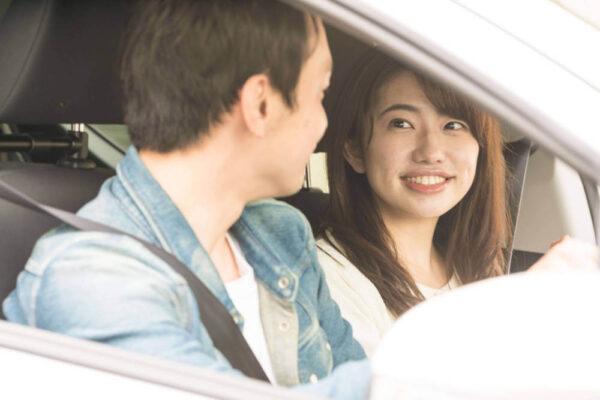 ハピメの女性とドライブデート
