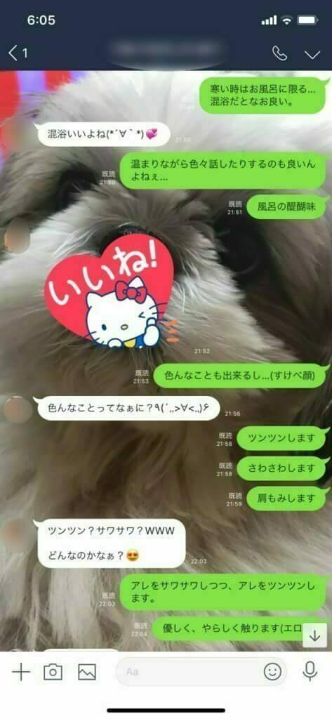 柳原可奈子似の女とLINE2