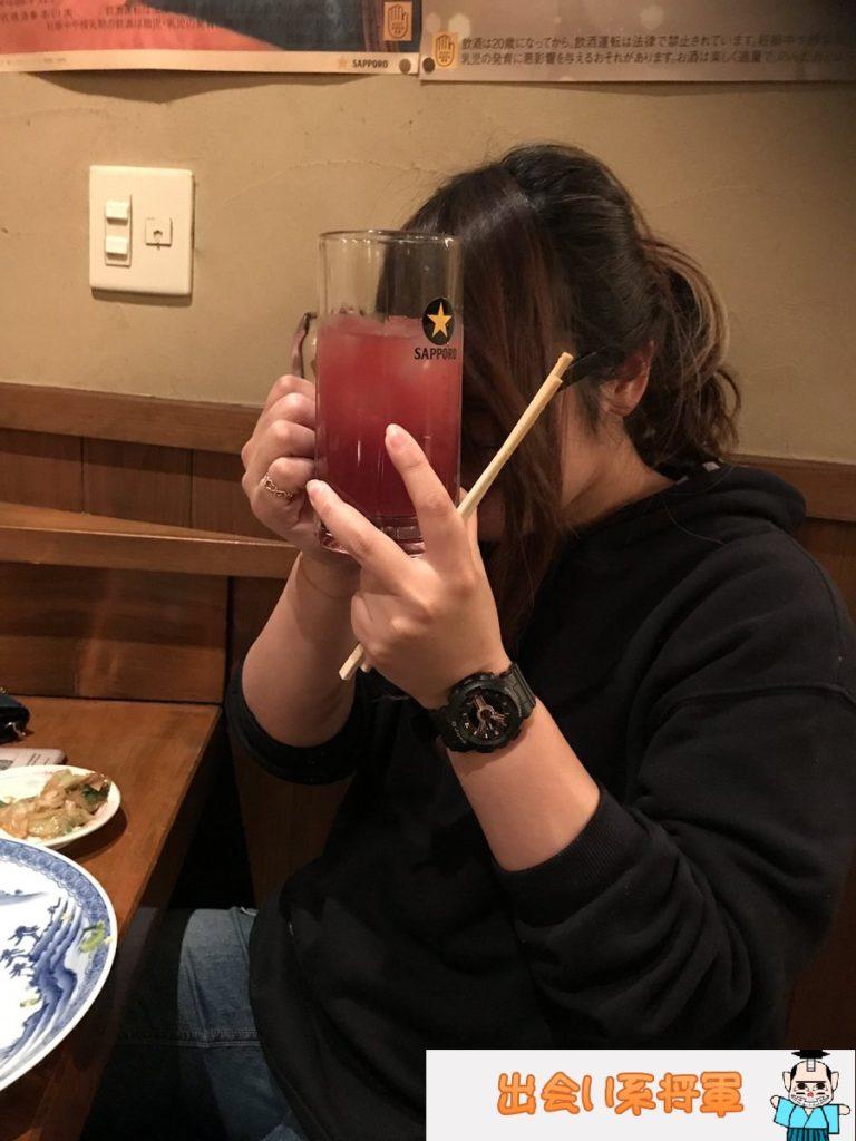 Jメールの女子大生と居酒屋デート