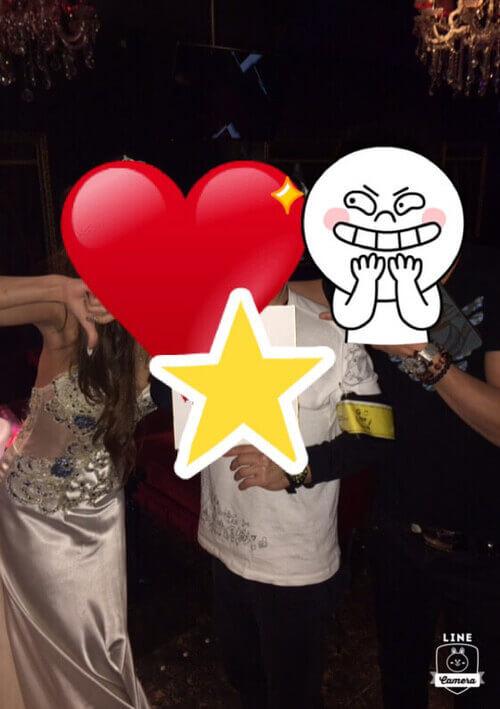 ナイトクラブでGETしたタダマン女子との2ショット写真